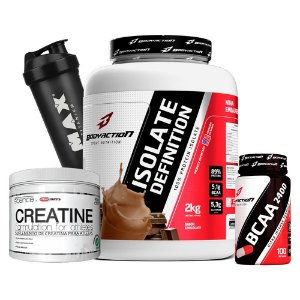 Kit Isolate Definition 2KG + BCAA + Creatina + Coqueteleira