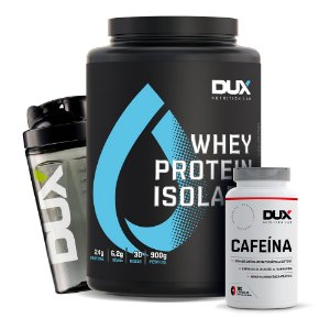 Combo Whey Protein Isolado + Cafeína + Coq - Dux Nutrition