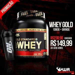 Whey Protein 100% Whey Gold Standard 20% More FREE 1.09kg - Optimum Nutrition