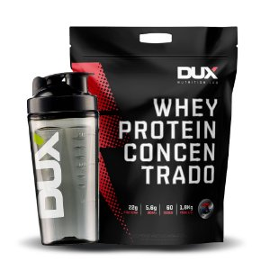 Kit Whey Protein Concentrado 1,8kg + Coqueteleira - Dux Nutrition Lab