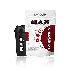 Hipercalórico Super Gainers 3kg + Coqueteleira - Max Titanium