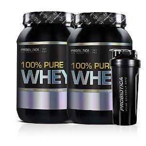 Kit 2x 100% Pure Whey 900g + Coqueteleira - Probiotica