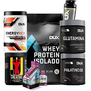Whey Protein Isolado + Glutamina + Palatinose + Creatine + Energy Kick + Carb Up + Coq