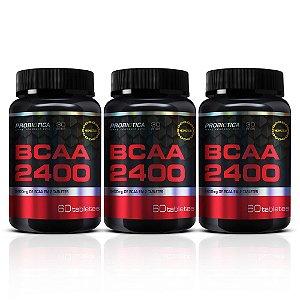 Kit 3X Bcaa 2400 - 60 Tabletes - Probiótica