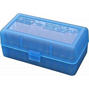 Case para 50 Munições Cal 22-250/30-30/308/7,62x39 Marca MTM - Azul