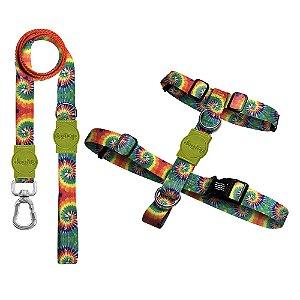 Kit Guia Premium + Peitoral H Peace Tie Dye