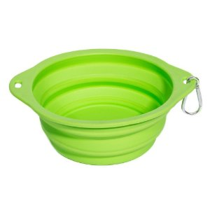 Bowl Comedouro Portátil Verde - Tamanho Médio