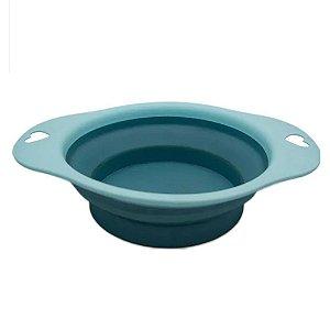 Bowl Comedouro Portátil Azul - Tamanho Grande