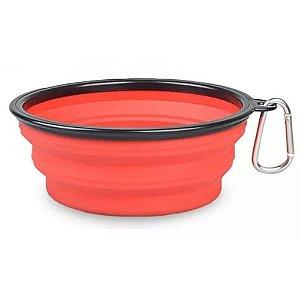 Bowl Comedouro Portátil Vermelho - Tamanho Pequeno