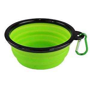 Bowl Comedouro Portátil Verde - Tamanho Pequeno