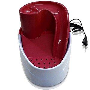 Bebedouro Fonte Cascata Purificador de Água Vermelho