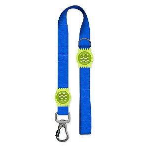 Guia Premium Curta Classic Blue Borracha Verde