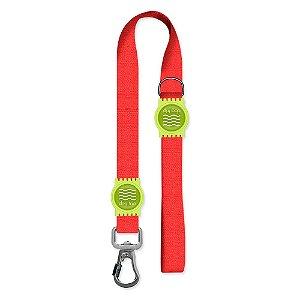 Guia Premium Curta Classic Red Borracha Verde