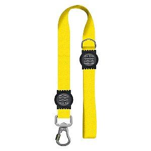 Guia Premium Curta Classic Yellow Borracha Preta