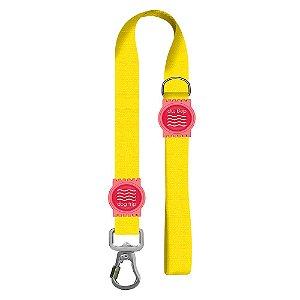 Guia Premium Curta Classic Yellow Borracha Rosa