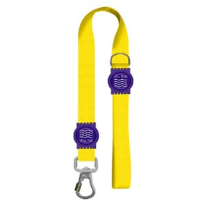 Guia Premium Curta Classic Yellow Borracha Roxa