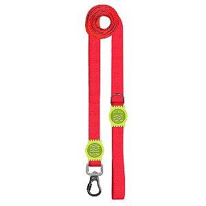 Guia Premium Longa Classic Red Borracha Verde
