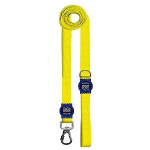 Guia Premium Longa Classic Yellow Borracha Azul