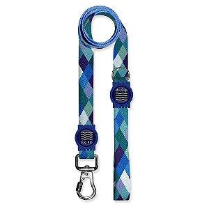 Guia Premium Quadriculada Azul Borracha Azul