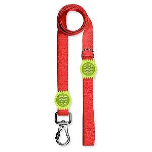 Guia Premium Classic Red Borracha Verde