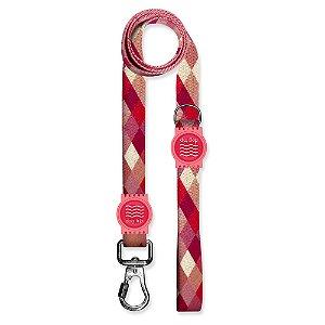 Guia Premium Quadriculada Rosa Borracha Rosa