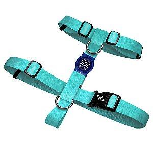 Peitoral Premium Classic Aquamarine Borracha Azul