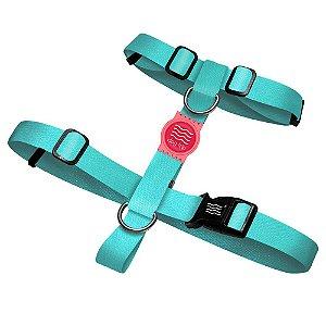 Peitoral Premium Classic Aquamarine Borracha Rosa