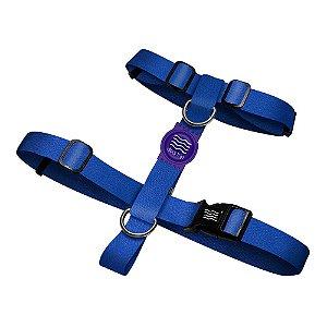 Peitoral Premium Classic Blue Borracha Roxa