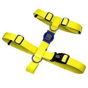 Peitoral Premium Classic Yellow Borracha Azul