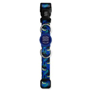 Coleira Premium Tucano Azul Borracha Azul