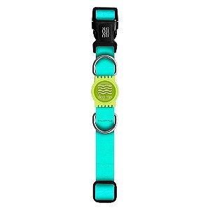 Coleira Premium Classic Aquamarine Borracha Verde