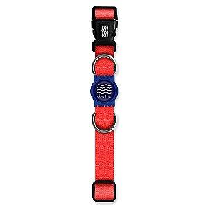 Coleira Premium Classic Red Borracha Azul