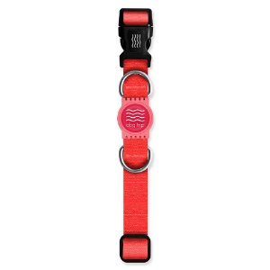 Coleira Premium Classic Red Borracha Rosa