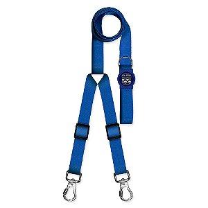 Guia Premium Dupla Classic Blue Borracha Azul