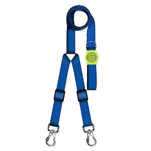 Guia Premium Dupla Classic Blue Borracha Verde