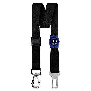 Cinto de Segurança Único Classic Black Borracha Azul