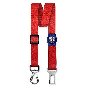 Cinto de Segurança Único Classic Red Borracha Azul