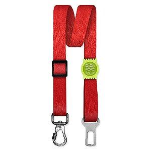 Cinto de Segurança Único Classic Red Borracha Verde