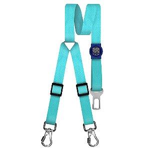 Cinto de Segurança Duplo Classic Aquamarine Borracha Azul