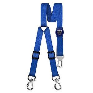 Cinto de Segurança Duplo Classic Blue Borracha Azul