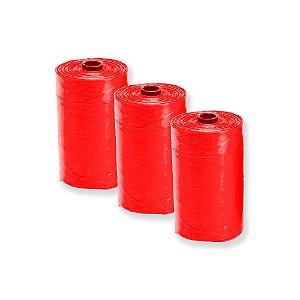 Refis Com 3 Saquinhos Higiênicos Vermelho
