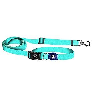 Guia Premium Fit Running Classic Aquamarine Borracha Azul