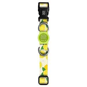 Coleira Premium Lemon Borracha Verde