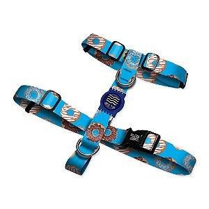 Peitoral Premium Donuts Blue Borracha Azul