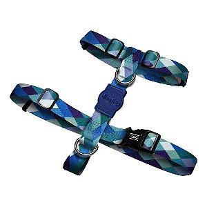 Peitoral H Quadriculado Azul