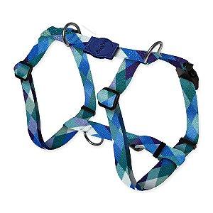 Peitoral Smart Quadriculado Azul