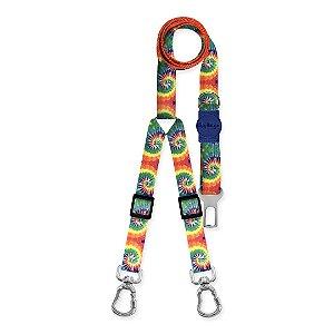 Cinto de Segurança Duplo Peace Tie Dye