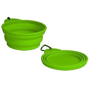 Bowl Comedouro Bebedouro Portátil Green - Grande