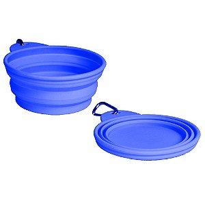 Bowl Comedouro Bebedouro Portátil Blue - Grande