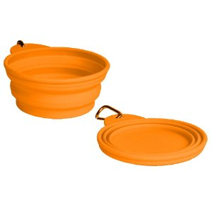 Bowl Comedouro Bebedouro Portátil Orange - Grande